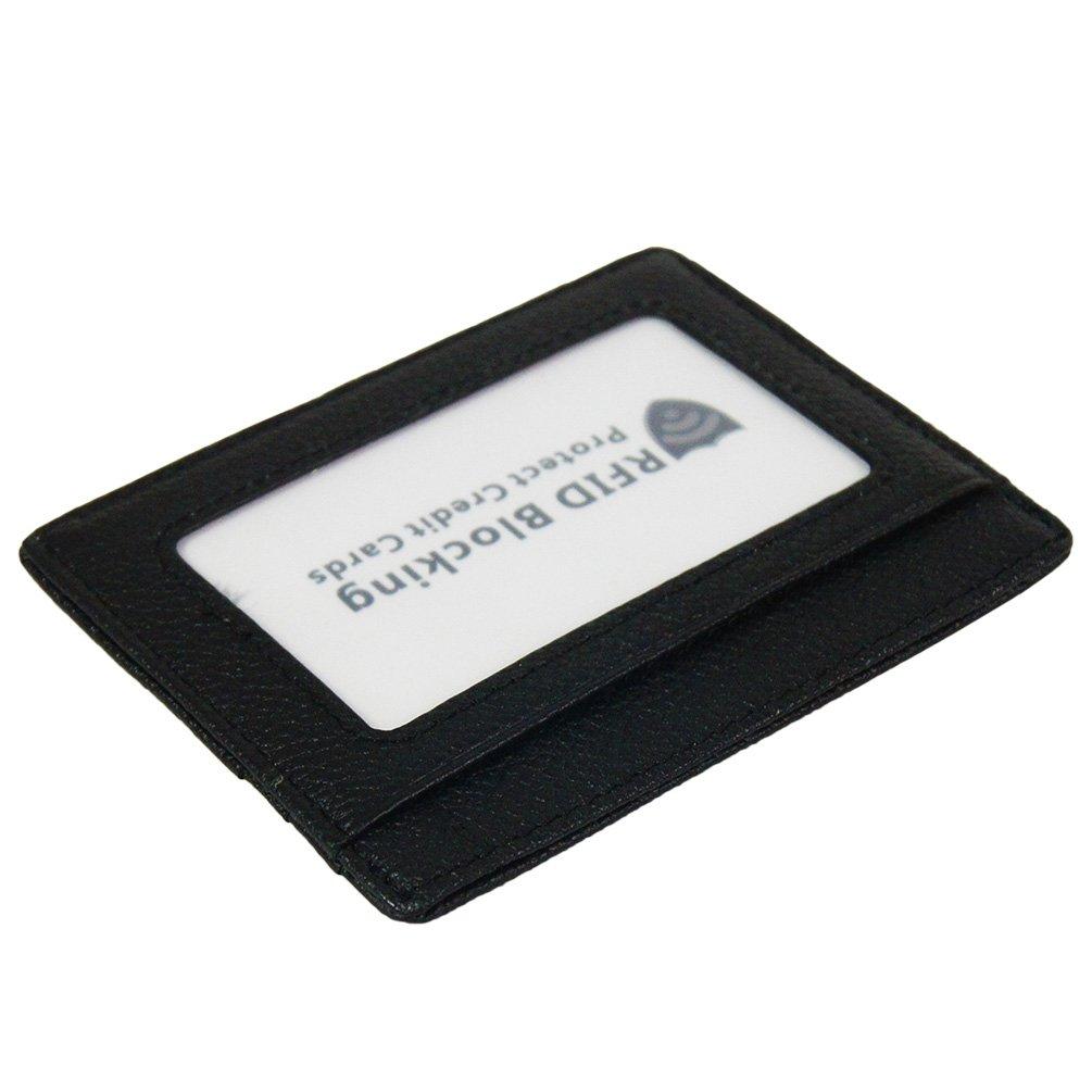 RFID Blocking Slim Wallet Super Thin Minimalist Card Holder (Black with 6 slots) BaBaMa Trade Co. Ltd