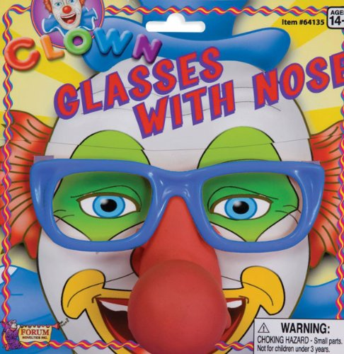 Clown Glasses and Nose - Adult (Clown Nose Glasses)