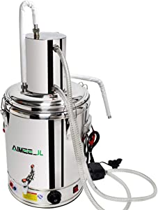 23L Automatic Alcohol Distiller Moonshine Still with Heating and Temperature Adjustment 30° Constant Temperature Fermentation and 70°/52°/42°/28° Wine Out Home Brewing Kit (20L/5Gal)
