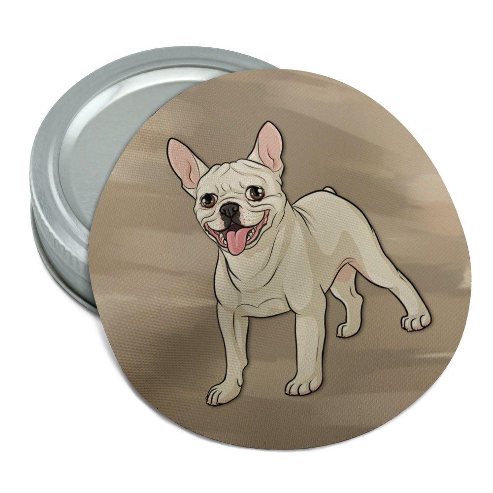 French Bulldog Pet Dog Round Rubber Non-Slip Jar Gripper Lid Opener
