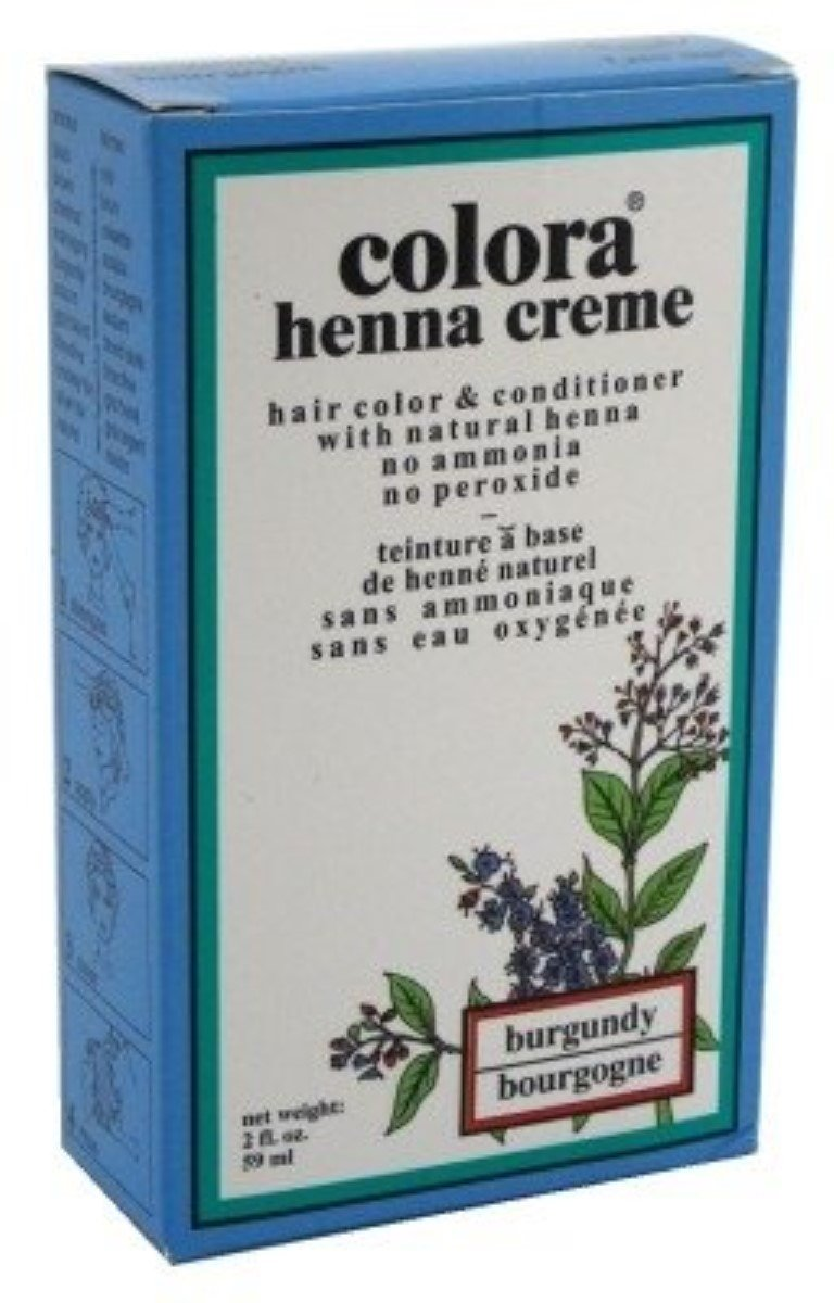 Colora Henna Creme Hair Color Burgundy, 2 oz (Pack of 11)
