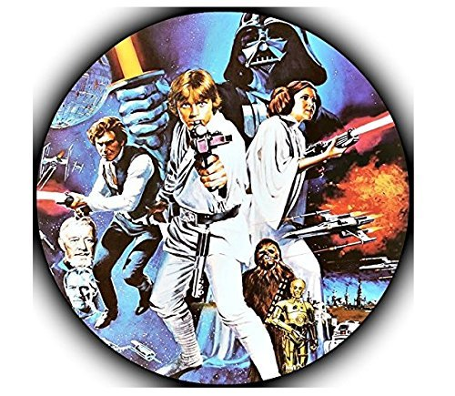 (Star Wars Darth Vader Yoda Luke Skywalker Photo Sugar Frosting Icing Cake Topper Sheet Birthday Party - 8