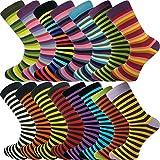 Mysocks Bulk Buy Mens 15 Pairs Striped Socks