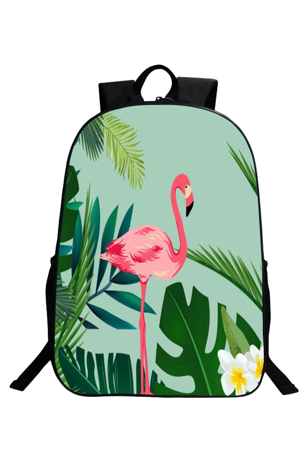 Flamingo Palm Tree Casual Backpack Travel Daypack School Bag,Style2