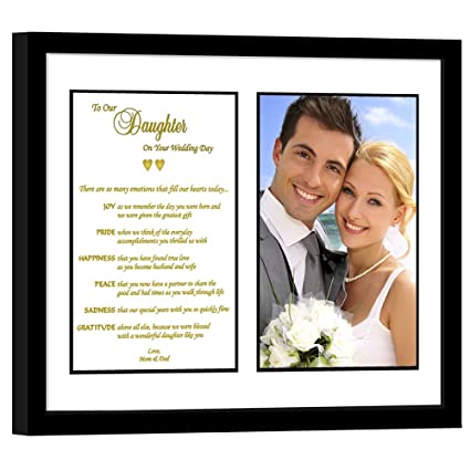 Amazon Daughter Wedding Gift From Parents Touching Poem From