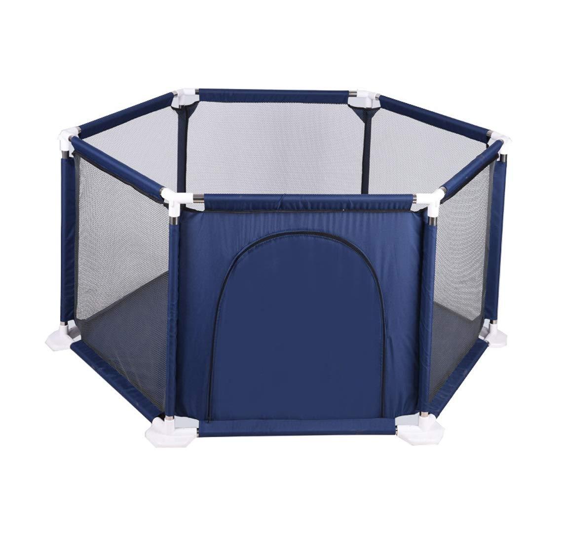 Obtén lo ultimo Promoción por tiempo limitado WEN-Playpens Juego de niños Cerca del del del bebé Interior de Arrastre para niños pequeños Juegos de Patio de Juguete 128  128  65.5cm (Color : Azul)  ahorra 50% -75% de descuento
