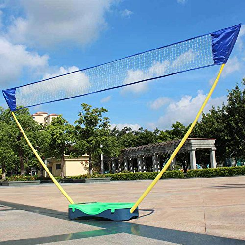 HLC 3 in 1 Outdoor Folding Adjustable Badminton Set,Tennis, Badminton, Volleyball Net with Stand,...