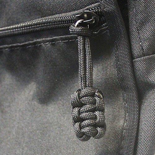 Bartact (Qty 5 550 Universal Nylon Paracord Zipper Pulls (Black)