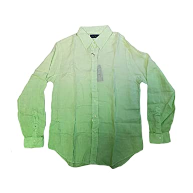 Ombre Men's At Ralph Linen Lauren ShirtmediumLime Amazon Polo jL354qAR