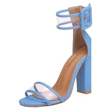 Damen Schuhe Pumps Nieten High Heels Stiletto Abendschuhe Sandaletten Schwarz 37 Pu3NG6pKHR