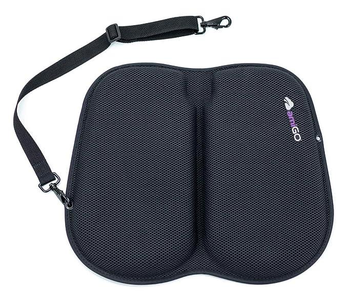 Amazon.com: AmiGO Travel Lite Cojín de asiento, ultra suave ...