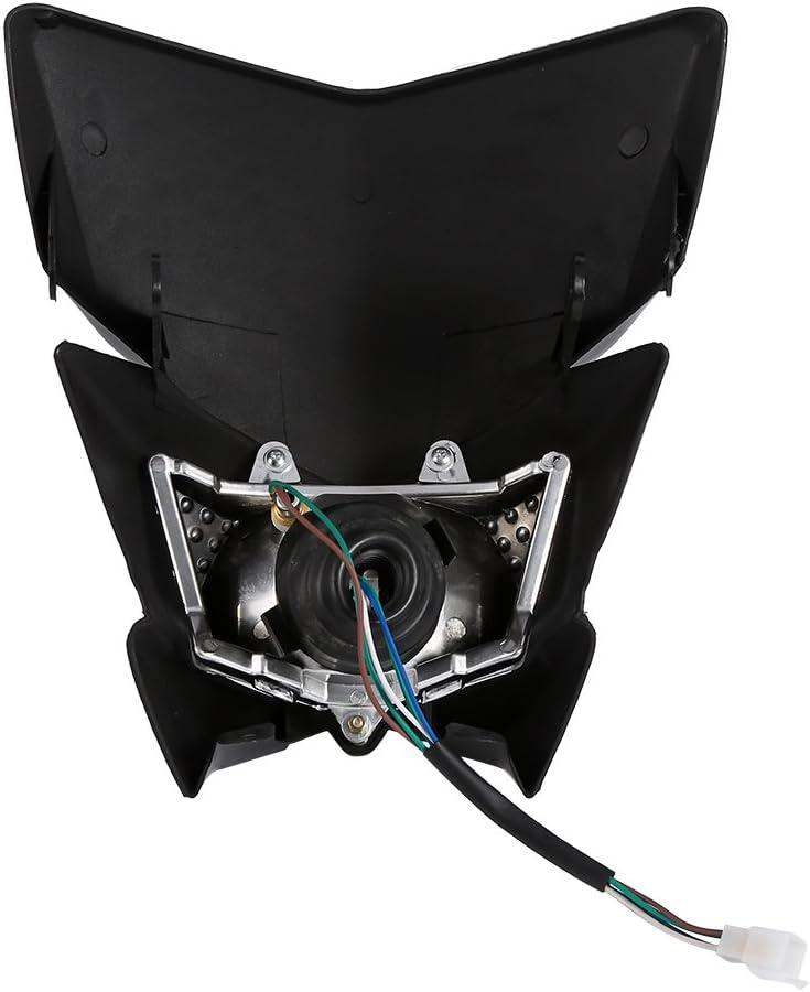 Keenso Universal Motorcycle Street Fighter ATV Scooters M/áscara de los faros Luz de circulaci/ón diurna Luces de se/ñalizaci/ón Luz modificada de la m/áscara de los faros de la motocicleta negro