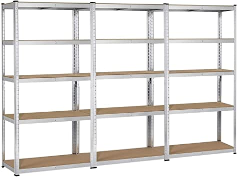 Shelving Racking 5 Tier Extra Wide Heavy Duty Storage Industrial Garage Shelves