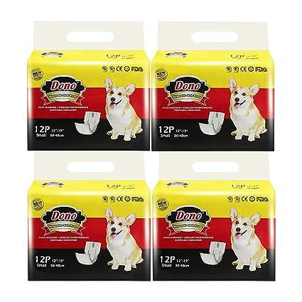 Pañales Desechables para Perros Dono Envolturas para Perros Pañales Suaves Súper Absorbentes para Mascotas Pañales con