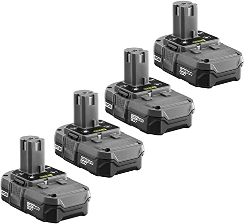 P181 4-P102 18-Volt ONE Compact Lithium-Ion Batteries 4-Pack Renewed