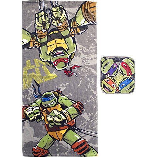 - Teenage Mutant Ninja Turtles Cross Hatching 2-Piece Towel and Washcloth Bath Set