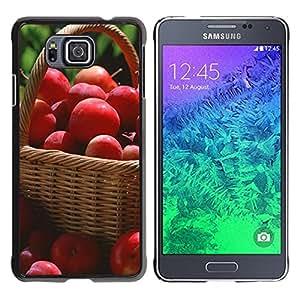 TopCaseStore / la caja del caucho duro de la cubierta de protección de la piel - Fruit Macro Red Apples - Samsung GALAXY ALPHA G850