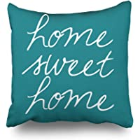 Pakaku Throw Pillows Covers for Couch/Bed 16 x 16 inch,Home Sweet Home Home Sofa Cushion Cover Pillowcase Gift Decorative Hidden Zipper Cotton and Polyester Summer Beach Sunlight