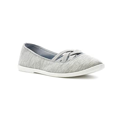 Lilley Zapato de Lona, Sin Cordones, Negro, Para Mujer Talla 7 UK/40.5 EU - Negro