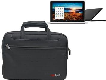 Navitech-Bolsa de piel para ordenador portátil y Tablet HP PCs incluidos Google Chromebook 11