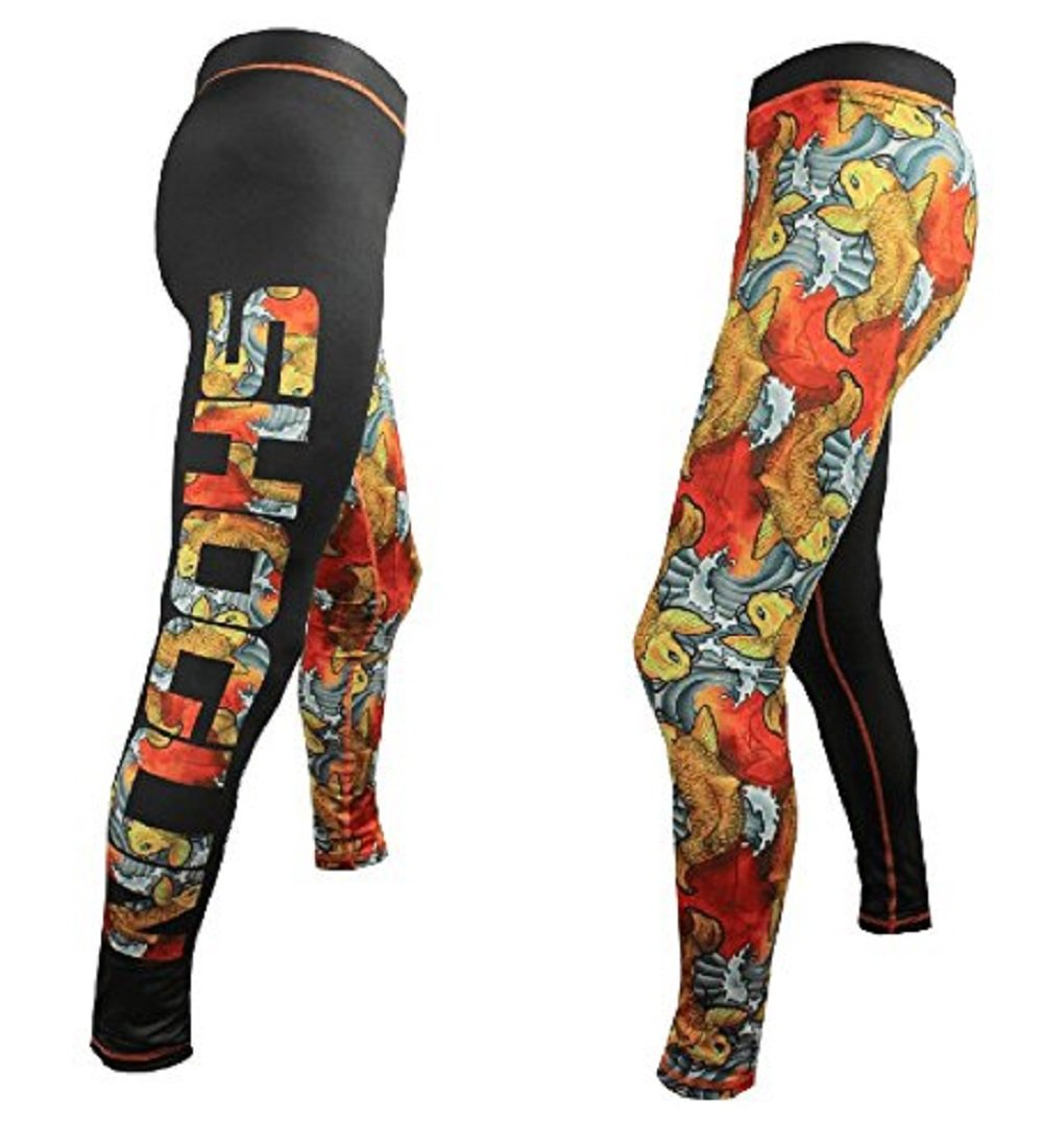 Shogun Fight Koi BJJ Jiu Jitsu Compression Pants Spats (L) by Shogun Fight