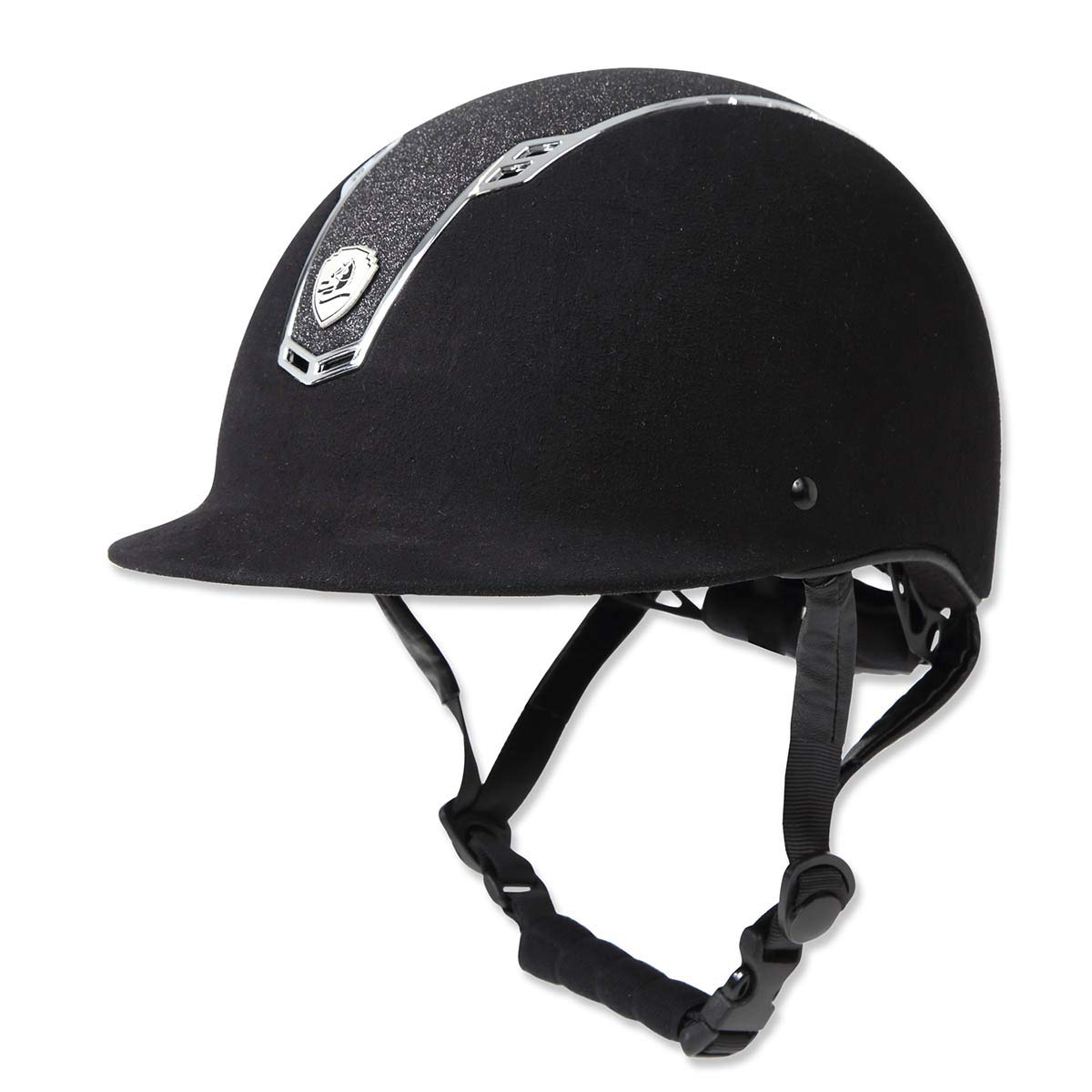 【オンライン限定商品】 乗馬 ヘルメット プロテクター 乗馬帽 帽子 EQULIBERTA 帽子 グリッターベルベット 乗馬用品 ダイヤル調整ヘルメット 乗馬用品 B07MJD8RRG 馬具 B07MJD8RRG Small ブラック/メタルシルバー ブラック/メタルシルバー Small, カミフクオカシ:420b1490 --- svecha37.ru