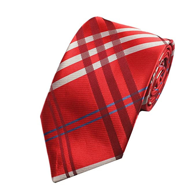 7a0440b2a49 Z-P Mens Red Stripe Luxury Elegant Necktie Knit Woven Jacquard Skinny Tie