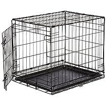 AmazonBasics Single-Door Folding Metal Dog Crate - Small (24x19x18 Inches)