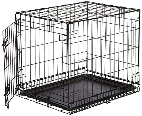 AmazonBasics Single Door Folding Metal Crate