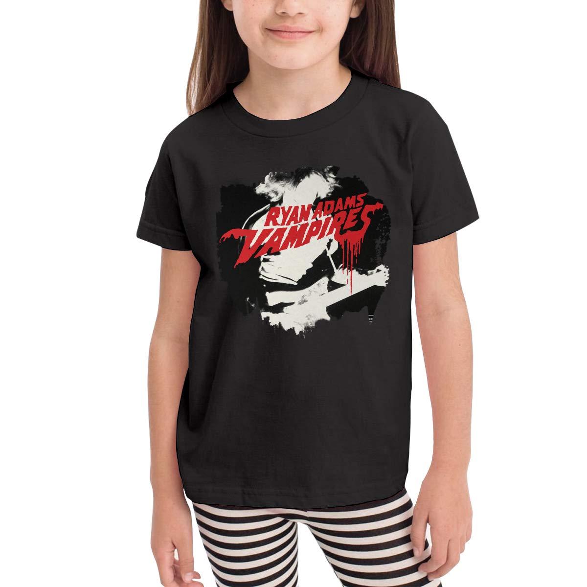 WYeter Ryan Adams Vampires Childrens Funny Short Sleeve Tshirt Black