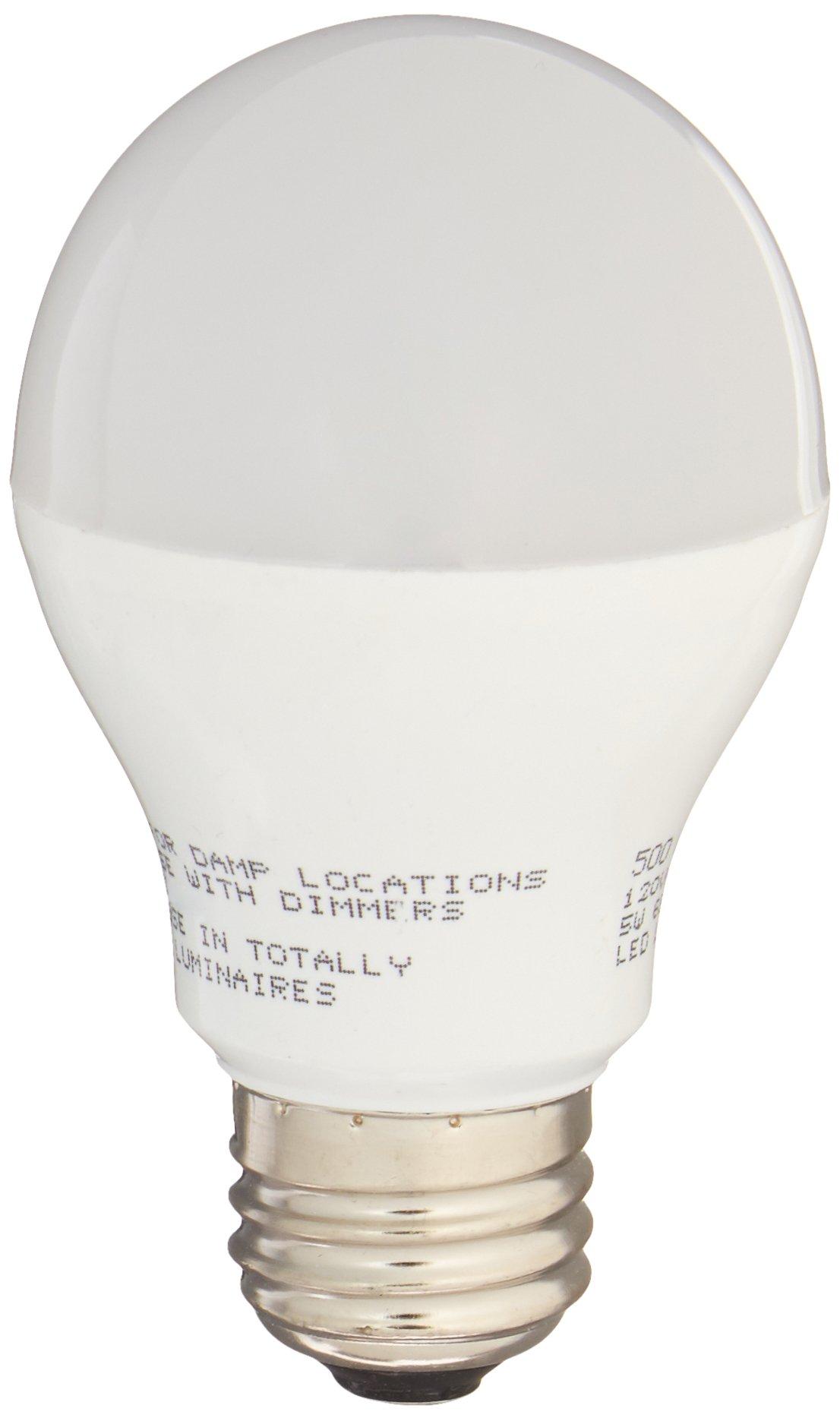 Miracle LED 604010 5-Watt Rough Service Garage Door Led Bulbs, A17, Long Life Energy Saver Bulb, Cool White, 6-Pack,