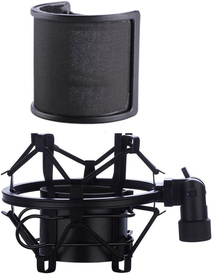 shock mount y pop filter para microfono 46mm-53mm