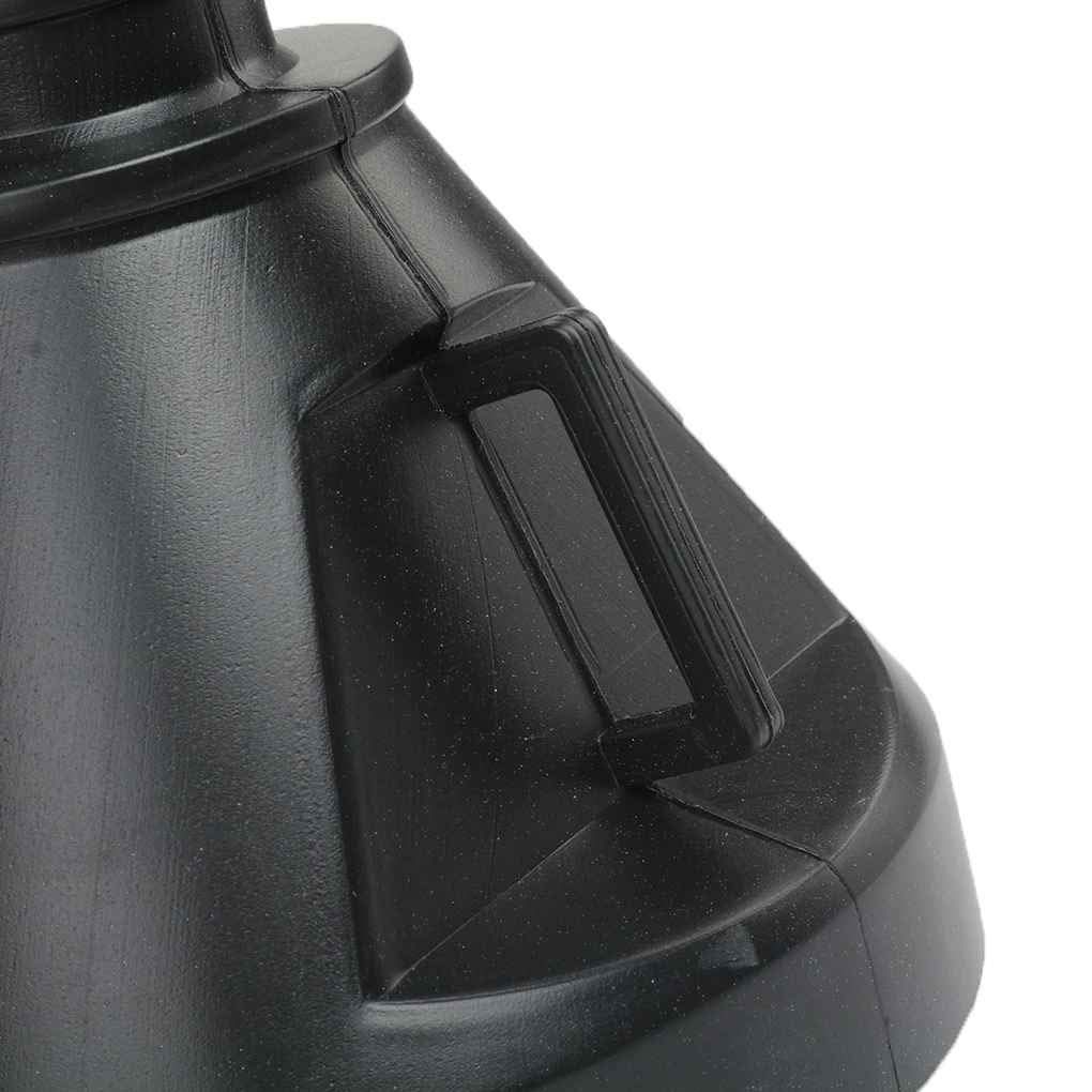 Vkospy 2 en 1 Negro pl/ástico Embudo Canal/ón de Agua y Aceite Combustible Gasolina Diesel