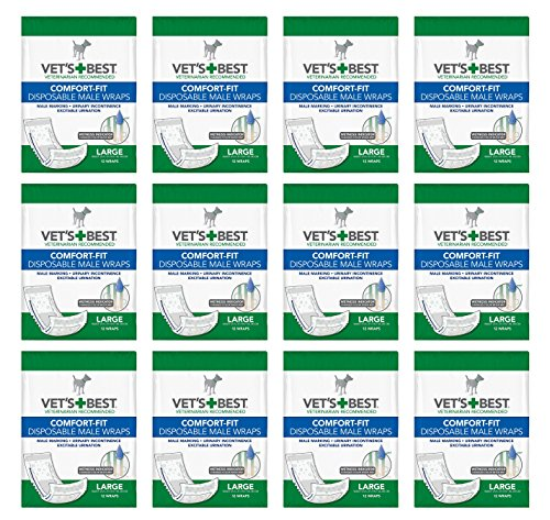 Vet's Best Comfort-Fit Disposable Male Wraps Large (12x12ct) (144 count) by Vet's Best