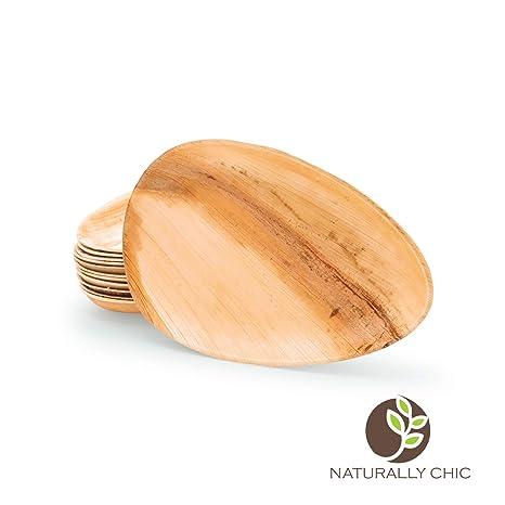 Amazon.com: Naturally Chic – Platos desechables de hojas de ...