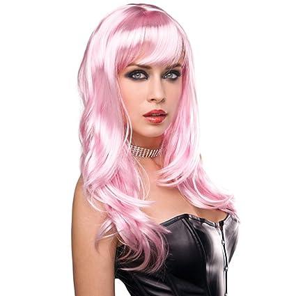 Sexy Punk Rocker Pink Wig