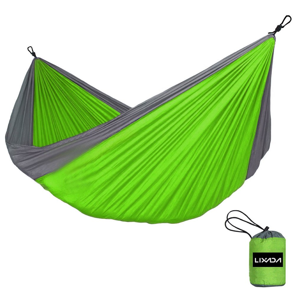 Vdk, Grün/Grau, Outdoor Camping Hängematte 2 Personen Garten Möbel, 200 kg Hängematte Kits hangmat 280 x 150 cm