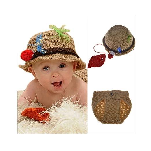 Amazon Baby Newborn Handmade Crochet Photography Props Fishing
