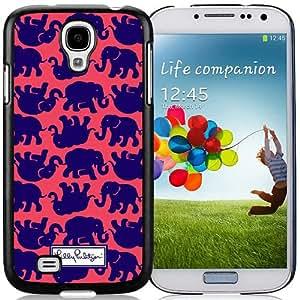 Lilly Pulitzer (2) Black Abstract Design Custom Samsung Galaxy S4 I9500 Case