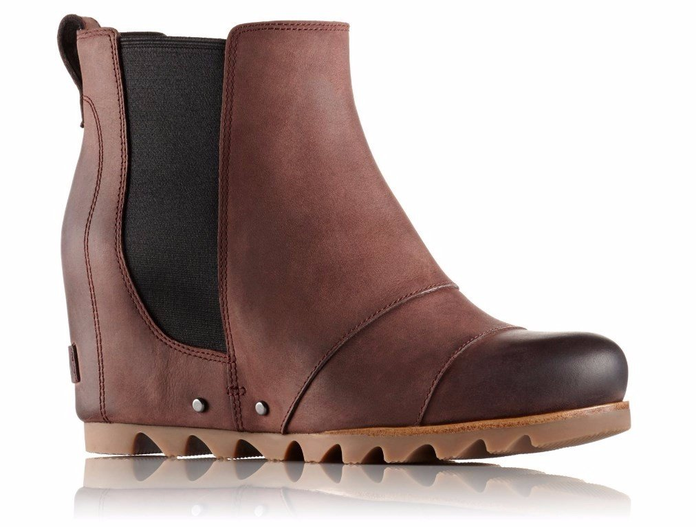 Sorel Women's Lea Wedge Booties (9.5 B(M) US, Redwood/Black)