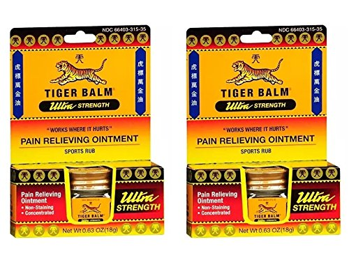 ength Pain Relieving Ointment (Pack of 2) with Camphor, Menthol, Cajuput Oil, Eucalyptus Oil, Clove Oil and Cassia Oil, 18g ()