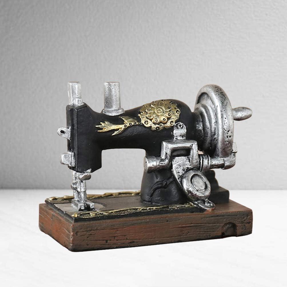 SUPVOX Resina Ornamento máquina de Coser de la Vendimia Mini ...