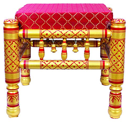 Traditional Indian Wooden Stool ()