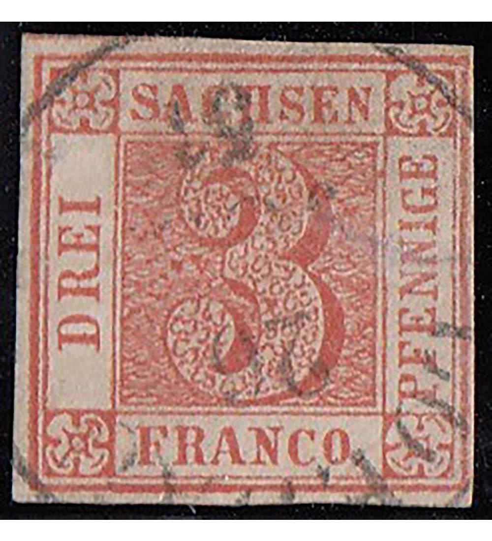 Goldhahn Sachsen Nr. 1 gestempelt geprüft und signiert Briefmarken für Sammler