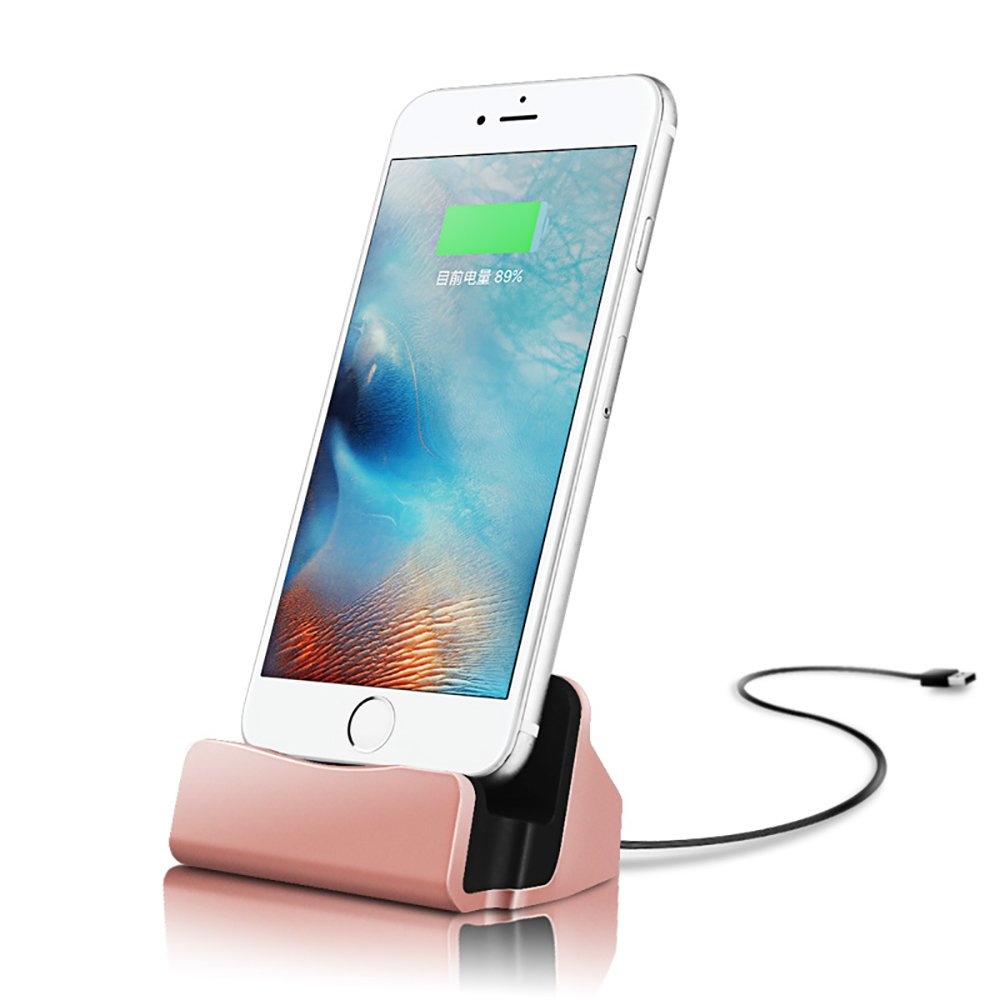 half off 8e259 e4523 Details about iPhone Charging Dock, iMoreGro Lightning Dock for Apple  7/7Plus/6/6...