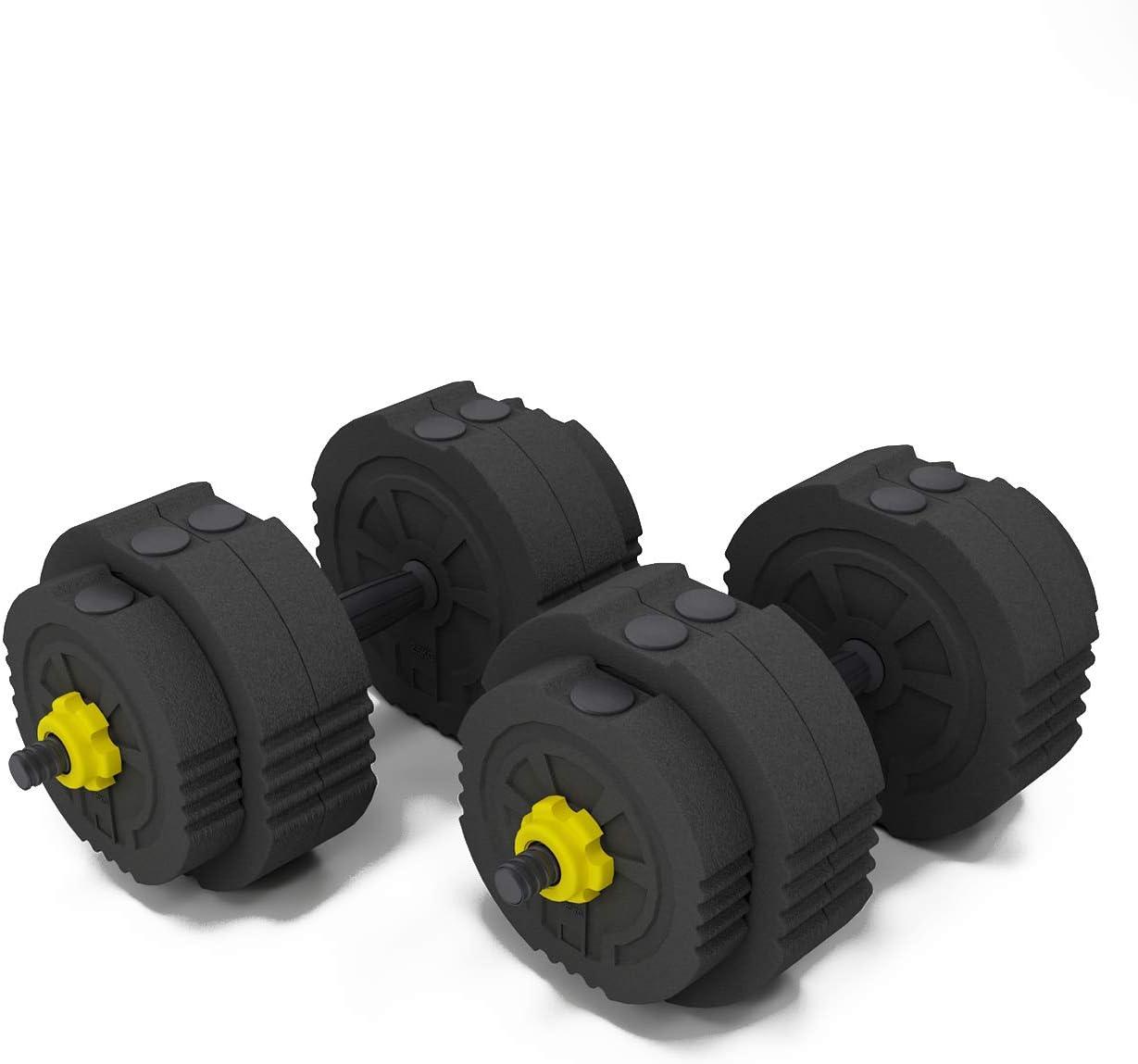 juego de pesas S1-YZWD001-25 utilizado como mancuernas de 25 kg equipo de fitness SOGES Juego de mancuernas ajustables para el hogar entrenamiento con biela