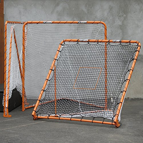 EZGoal 87615 EZ Goal Official Regulation Folding Metal Lacrosse Goal with Throwback Kit - 6' x 6'