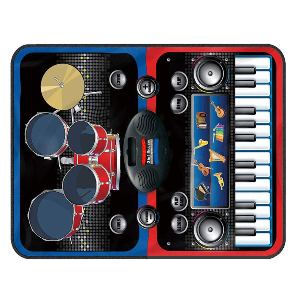 Per Children's Dance Mat Home Multifunctional Jazz Drum Electric Piano Music Game Mat Blanket Kids Early Education Puzzle Toys