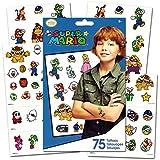 Super Mario Temporary Tattoos - 75 Ct