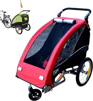 Papilioshop Fox - Remolque con carrito de bicicleta para el ...